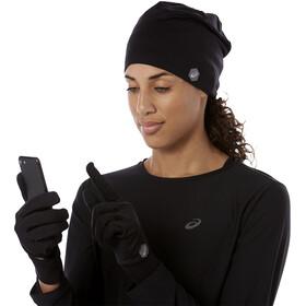 asics Running Pack - Guantes largos - negro